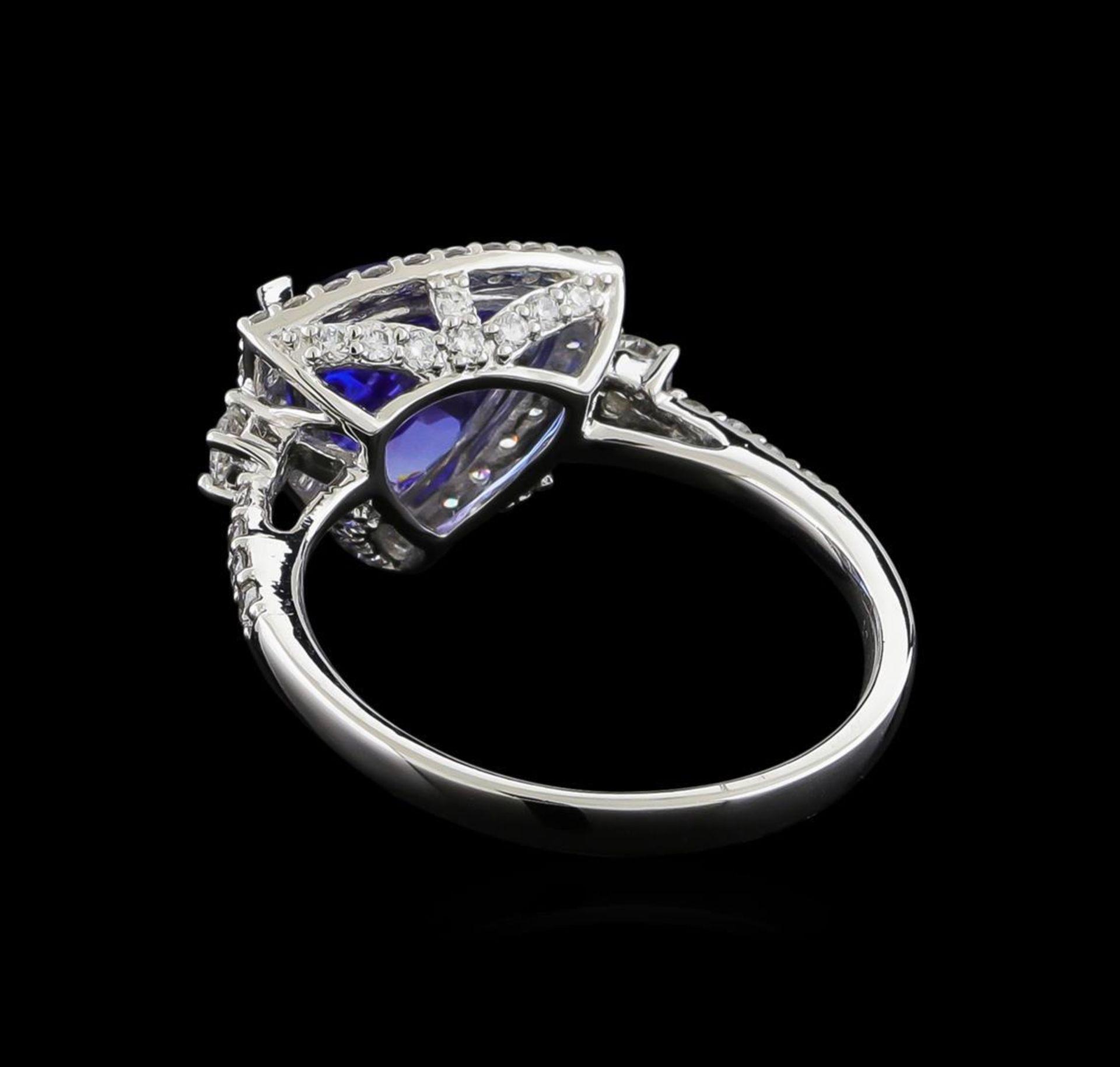 2.46 ctw Tanzanite and Diamond Ring - Platinum - Image 3 of 5