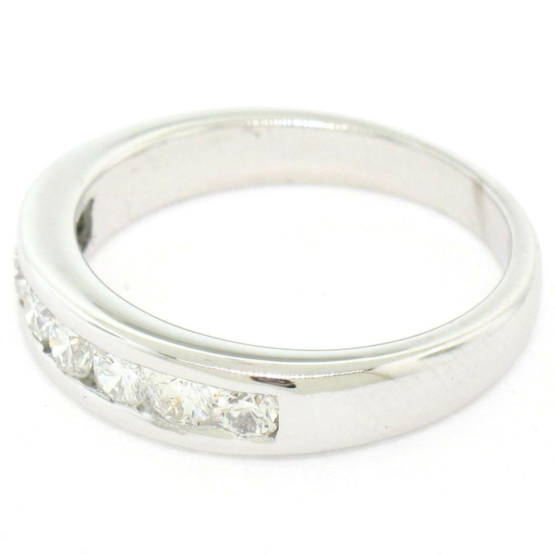 Classic Platinum .80ctw Channel Set Round Brilliant VS Diamond Wedding Band Ring - Image 5 of 8