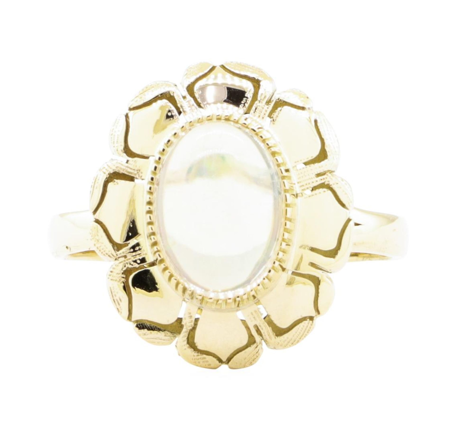 2.50 ct Opal Ring - 14KT Yellow Gold - Image 2 of 4