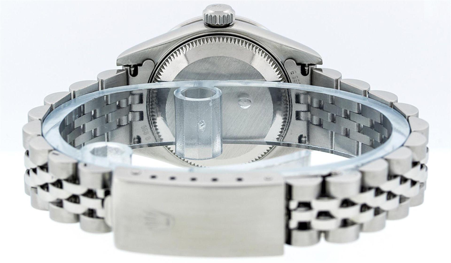 Rolex Ladies Stainless Steel Quickset Salmon Diamond Lugs Jubilee Datejust Wrist - Image 8 of 9