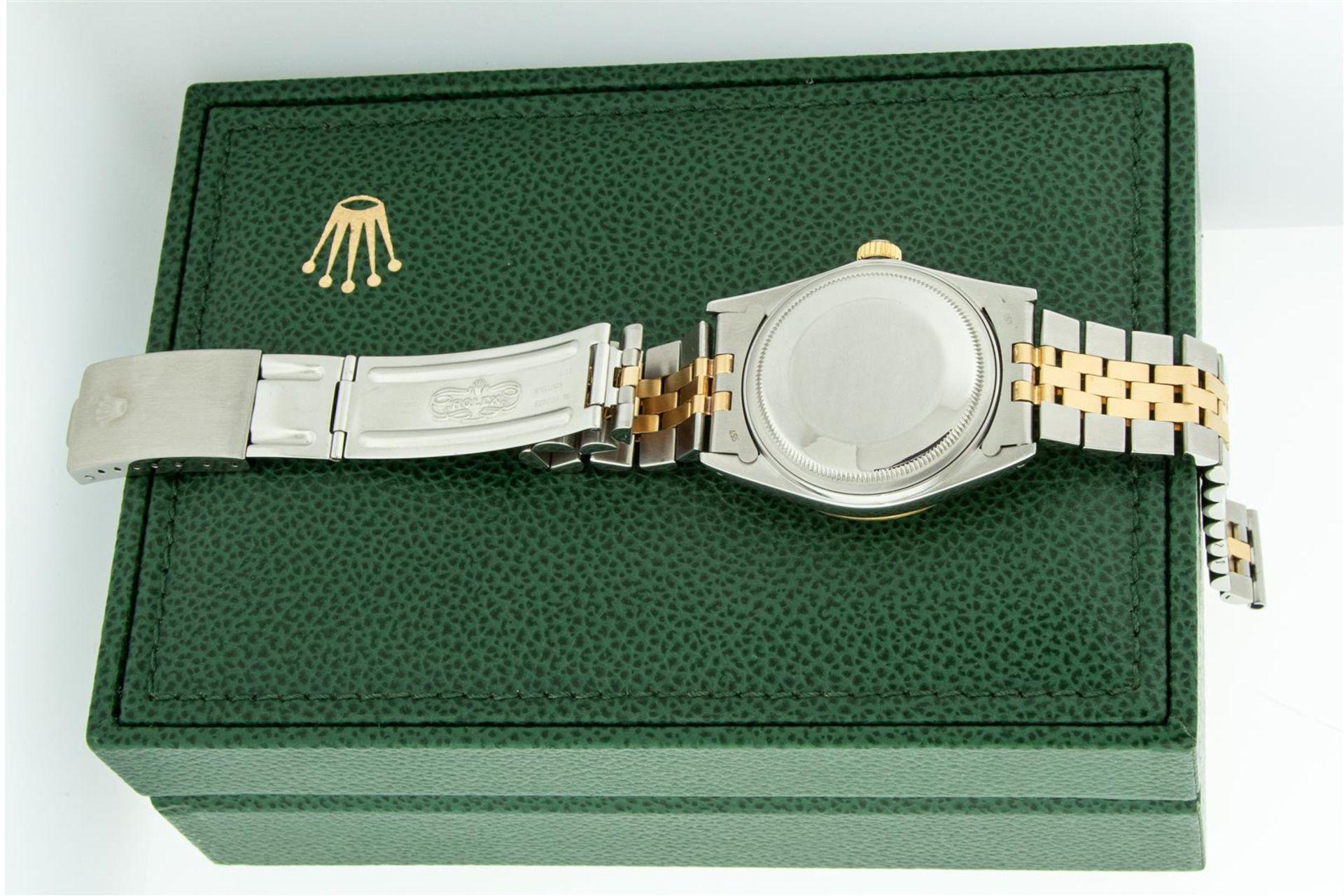 Rolex Mens 2 Tone MOP Diamond Lugs 36MM Datejust Wristwatch - Image 8 of 9