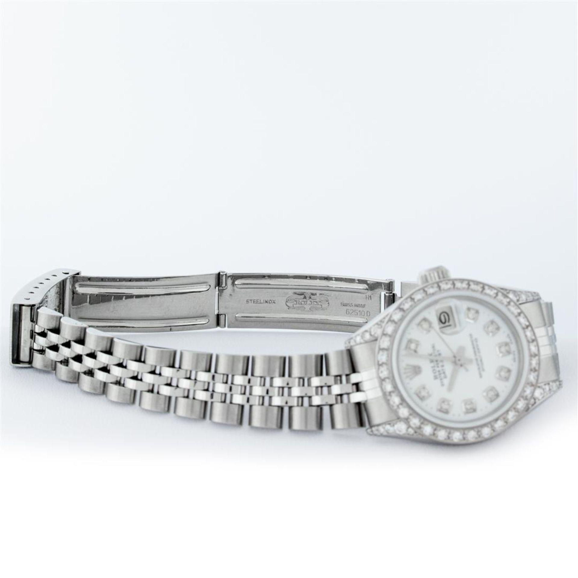 Rolex Ladies Stainless Steel White Diamond Lugs & Datejust Wristwatch - Image 8 of 9