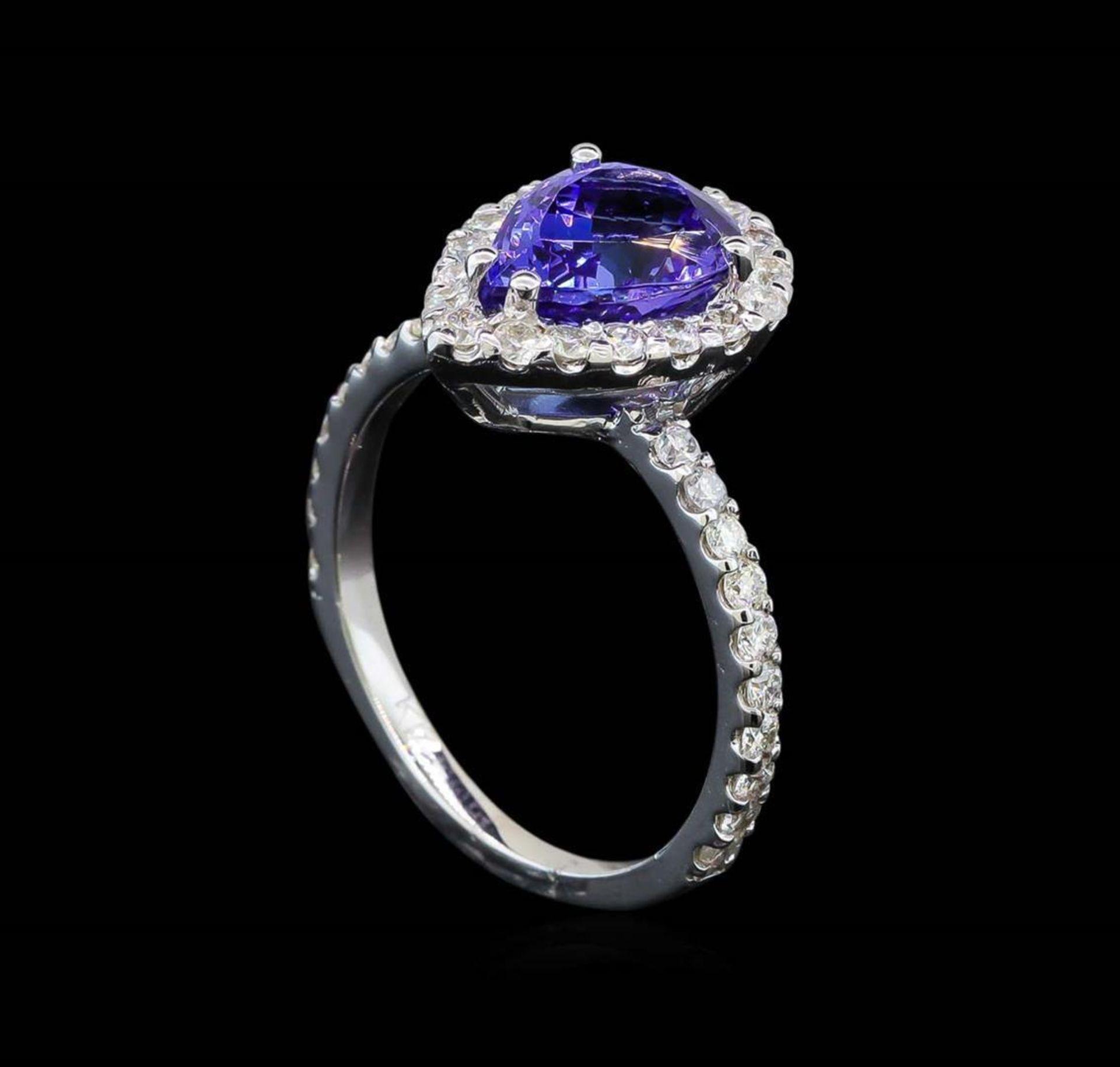 2.20 ctw Tanzanite and Diamond Ring - 14KT White Gold - Image 4 of 5