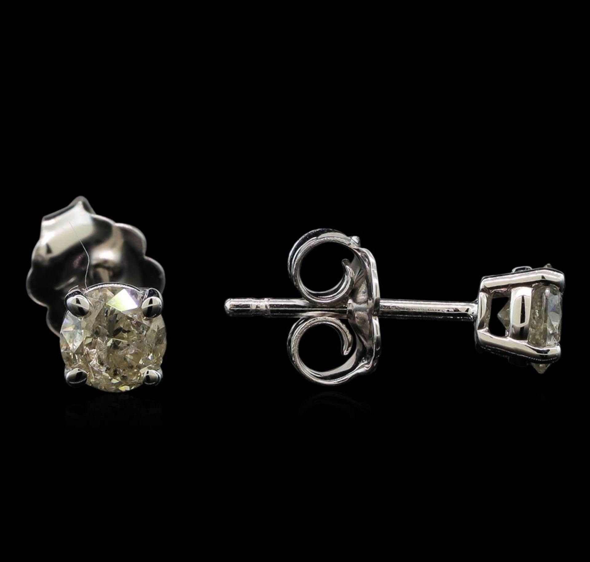 14KT White Gold 0.62 ctw Diamond Stud Earrings - Image 2 of 3