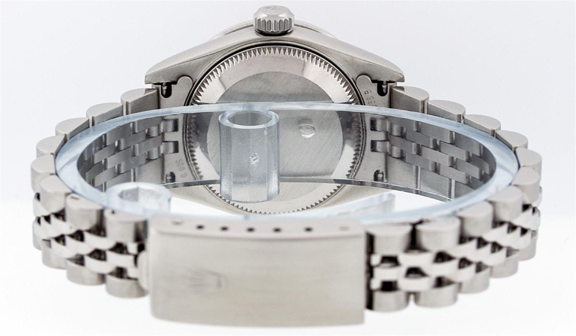 Rolex Ladies Stainless Steel Quickset Salmon Diamond Lugs Jubilee Datejust Wrist - Image 6 of 9