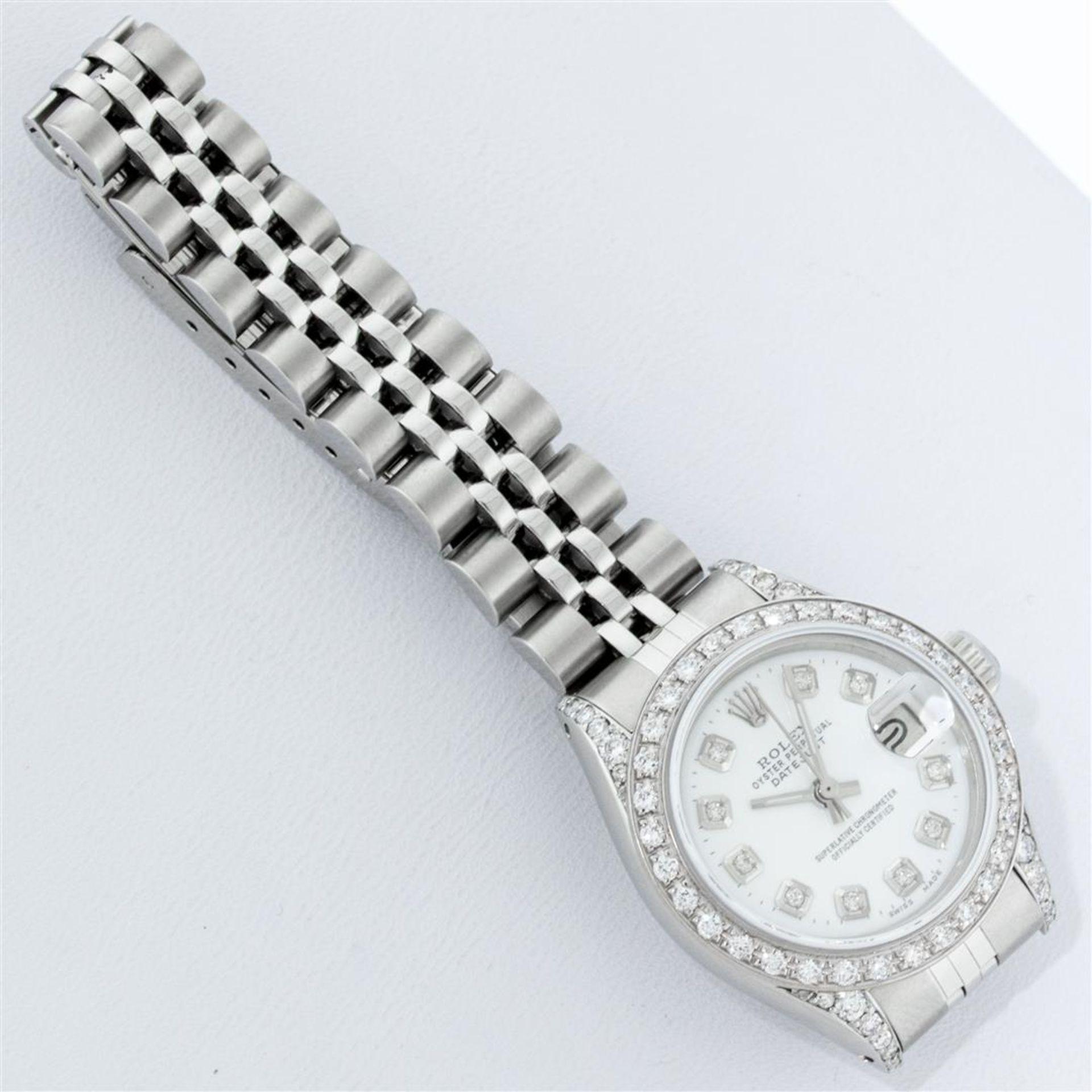 Rolex Ladies Stainless Steel White Diamond Lugs & Datejust Wristwatch - Image 7 of 9