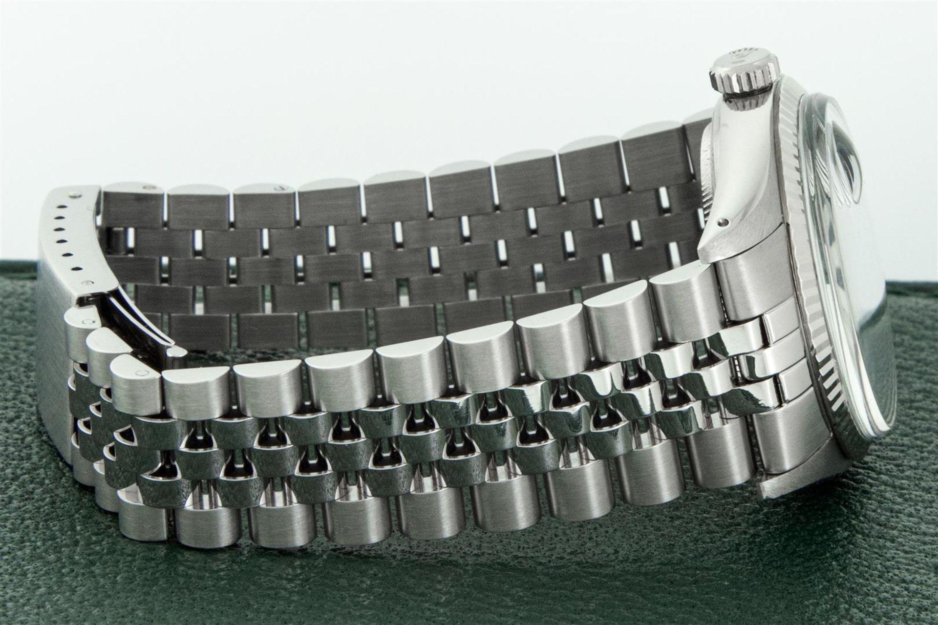 Rolex Mens Stainless Steel Meteorite Diamond 36MM Oyster Perpetual Datejust Wris - Image 8 of 9