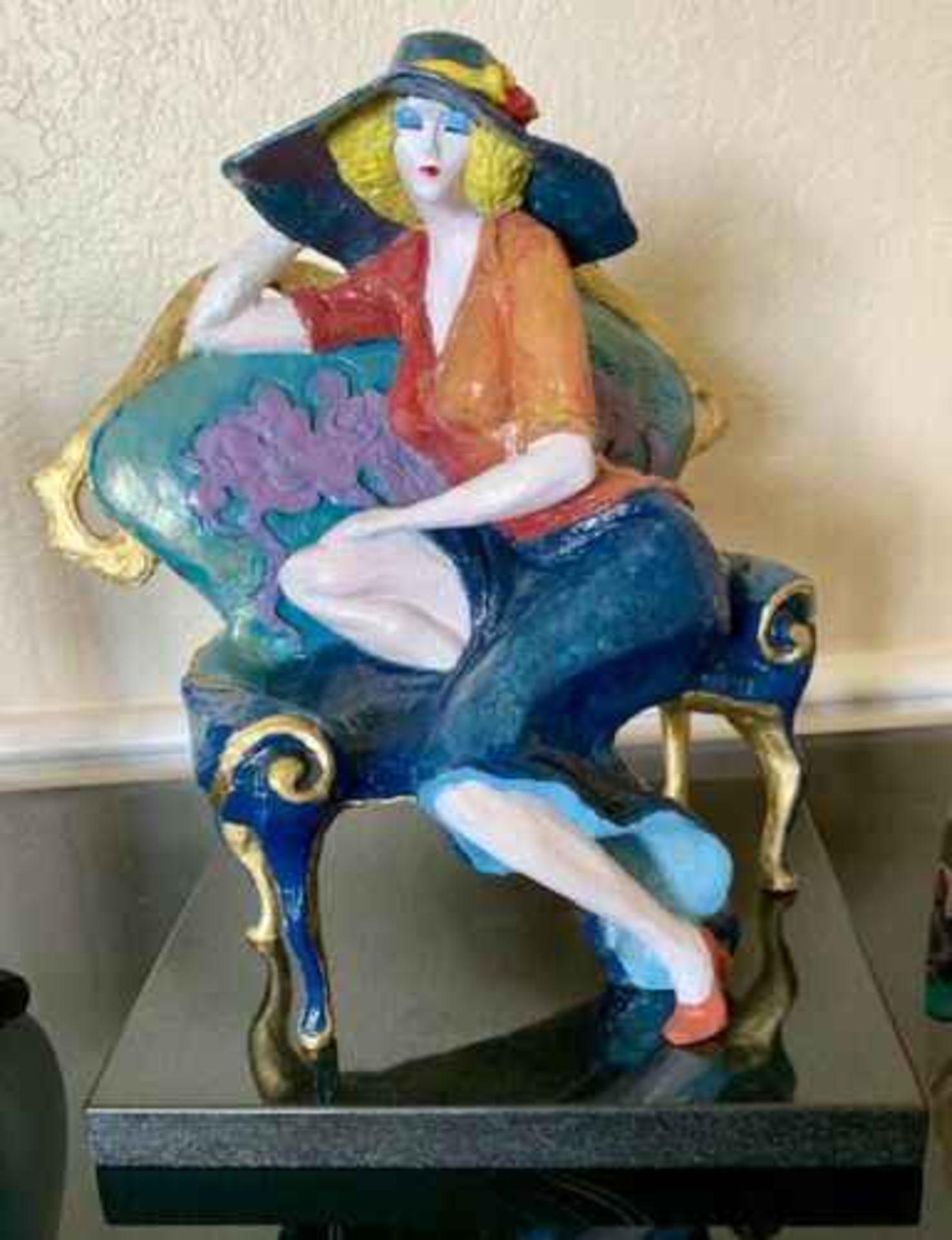 "Tarkay ""LAVENDER DREAMS"" Sculpture"