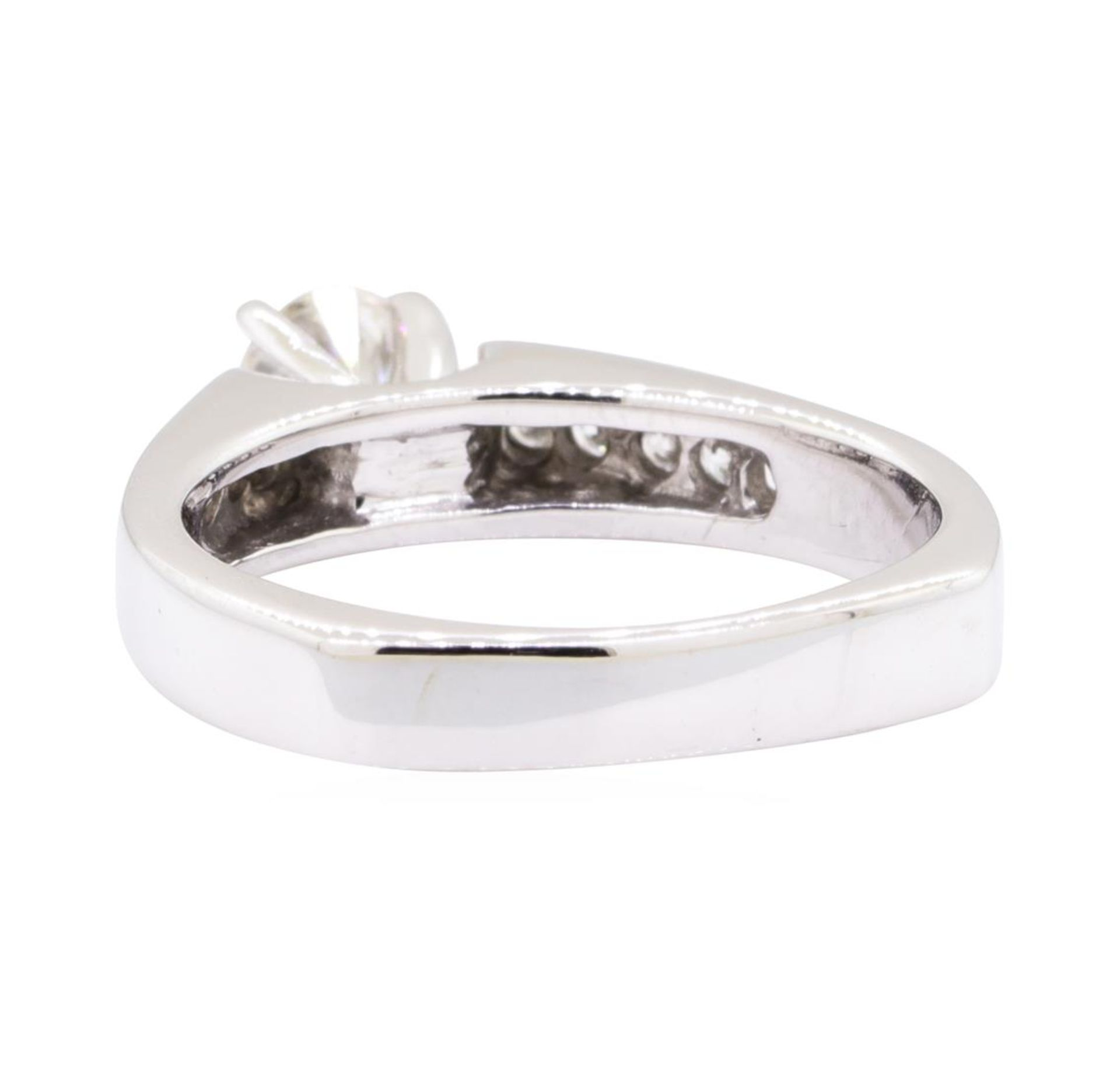 0.80 ctw Diamond Wedding Ring with a Euro Shank - 14KT White Gold - Image 3 of 4