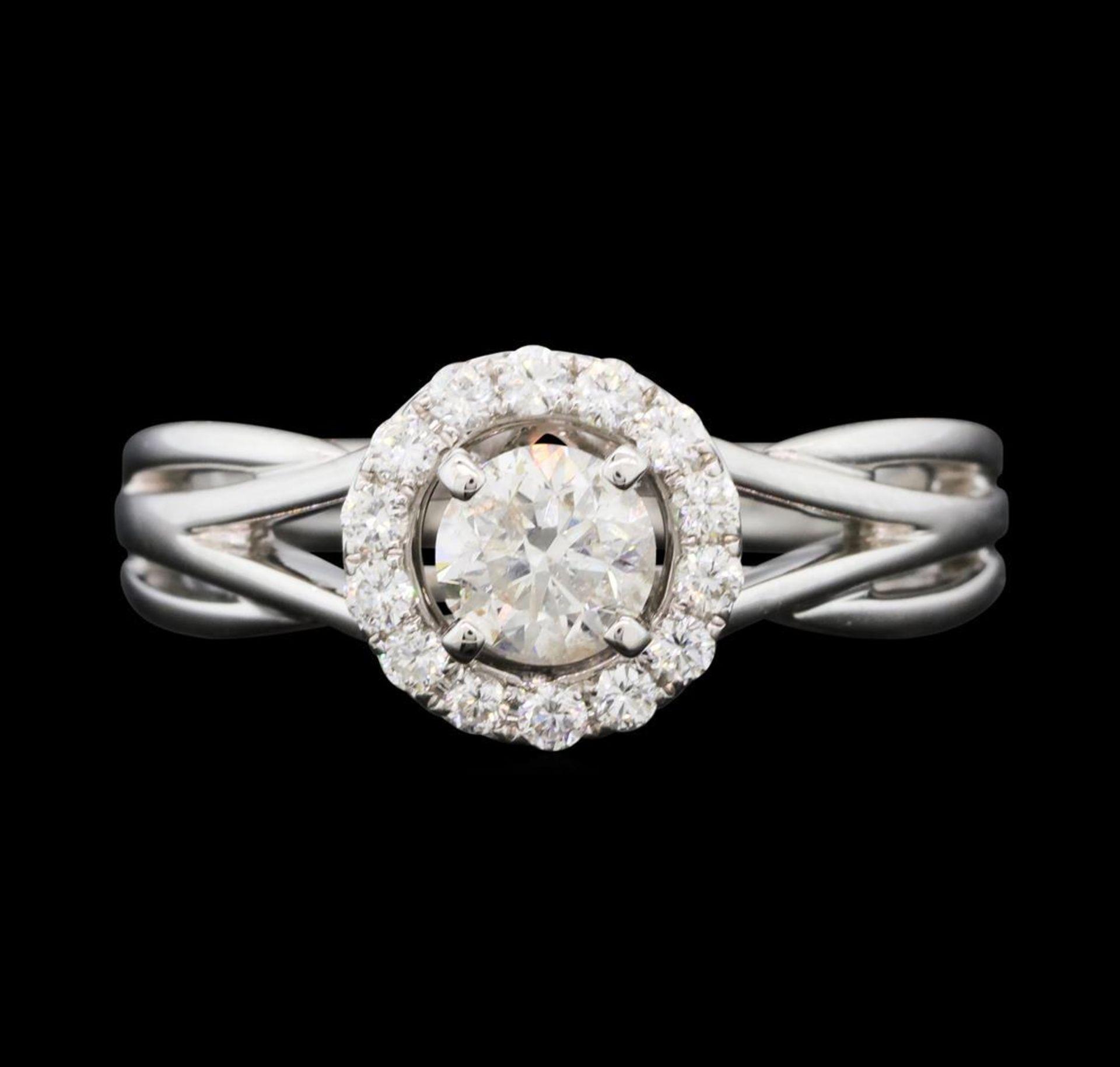 0.74 ctw Diamond Ring - 14KT White Gold - Image 2 of 5