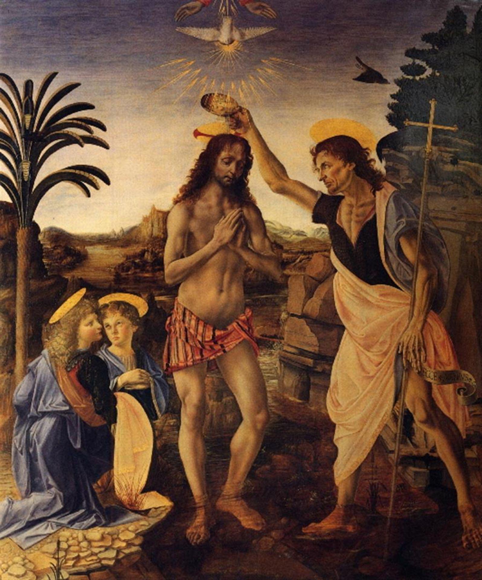 Andrea del Verrocchio - Baptism of Christ