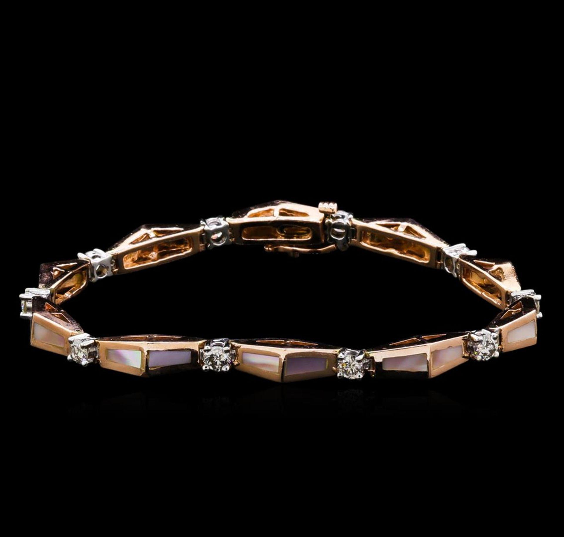 14KT Two-Tone Gold 0.67 ctw Diamond Bracelet