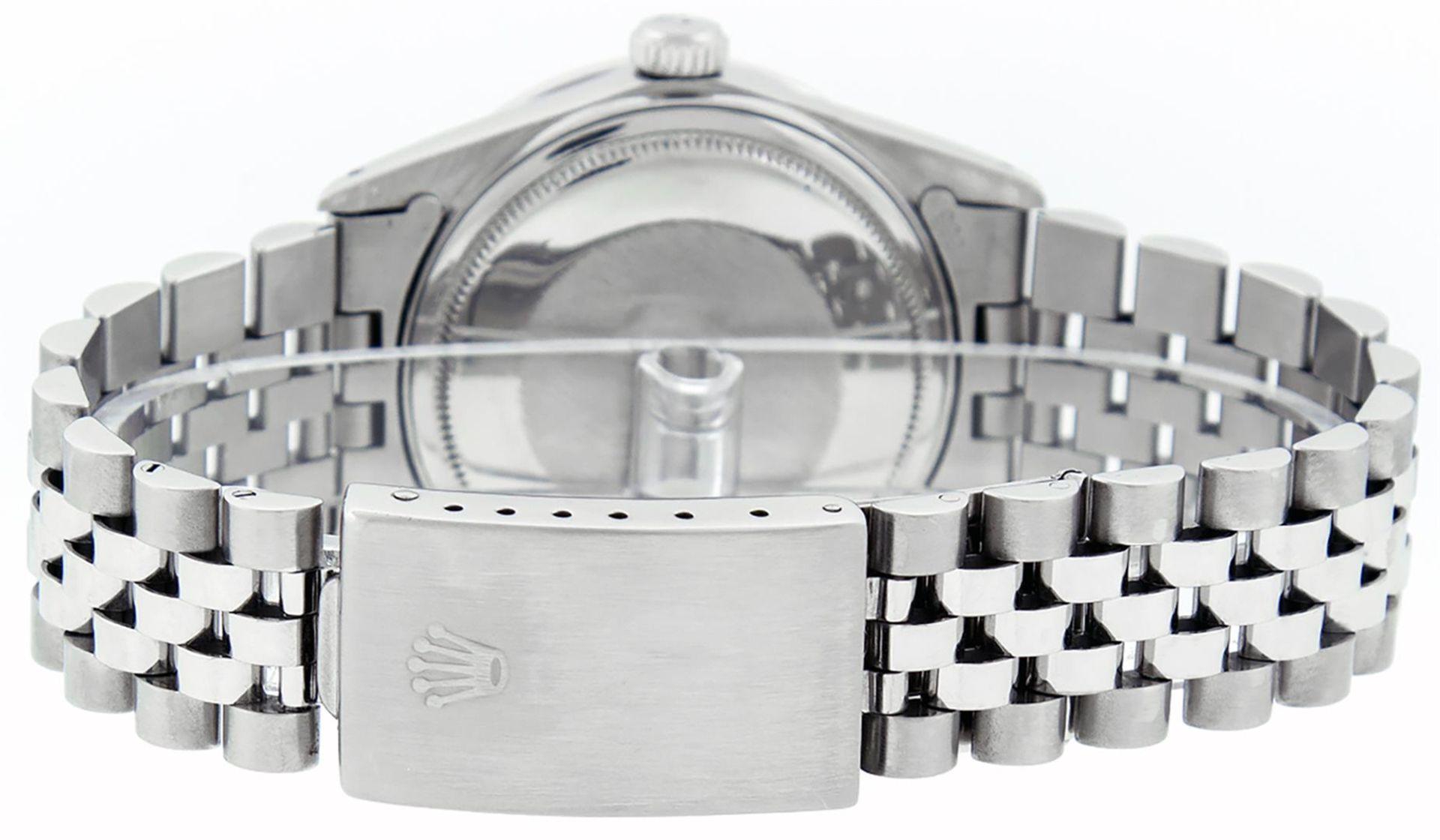 Rolex Mens Stainless Steel White Diamond & Emerald 36MM Datejust Wristwatch - Image 6 of 9