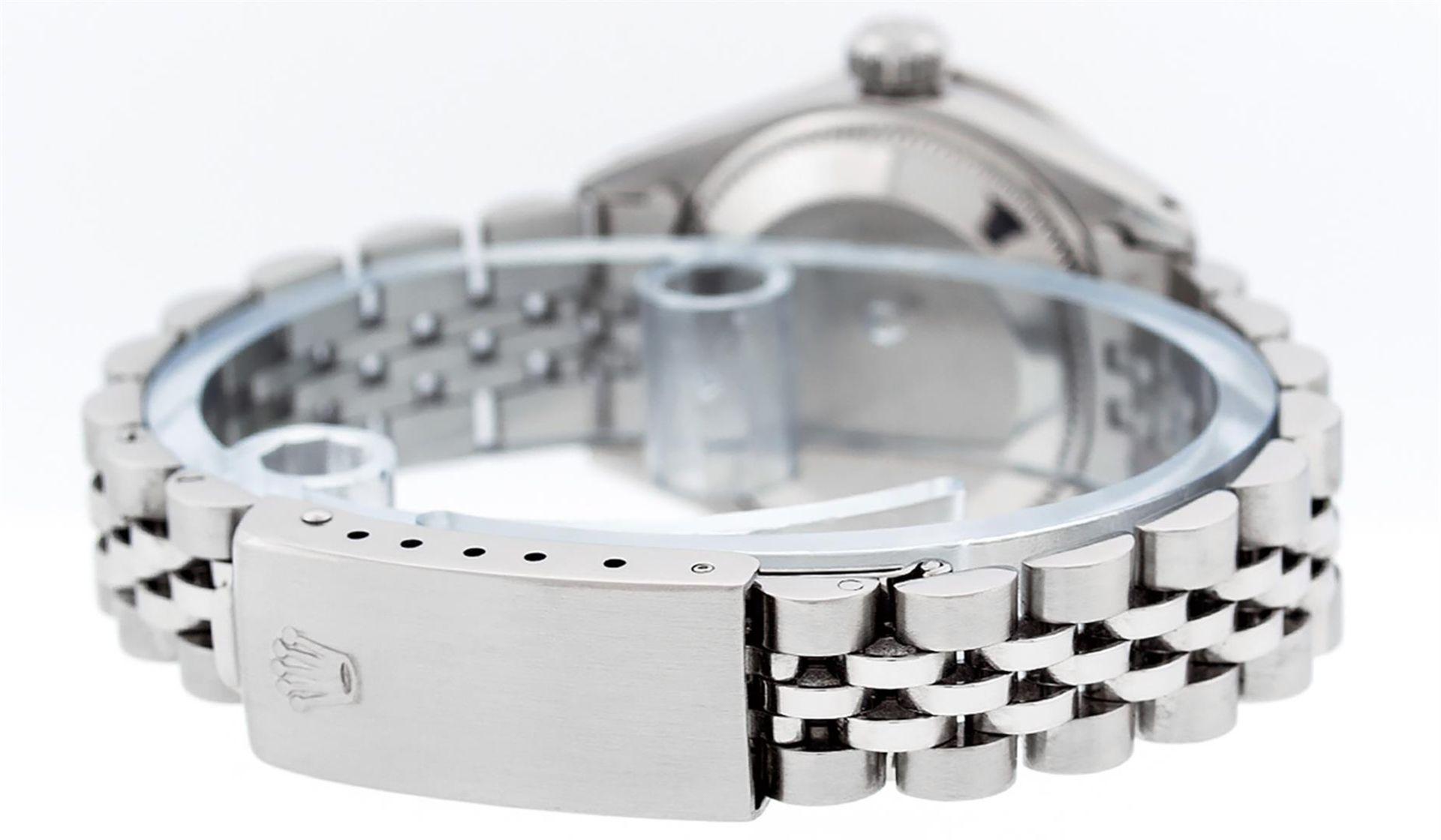 Rolex Ladies Stainless Steel Blue MOP Diamond & Emerald Datejust Wristwatch - Image 6 of 9
