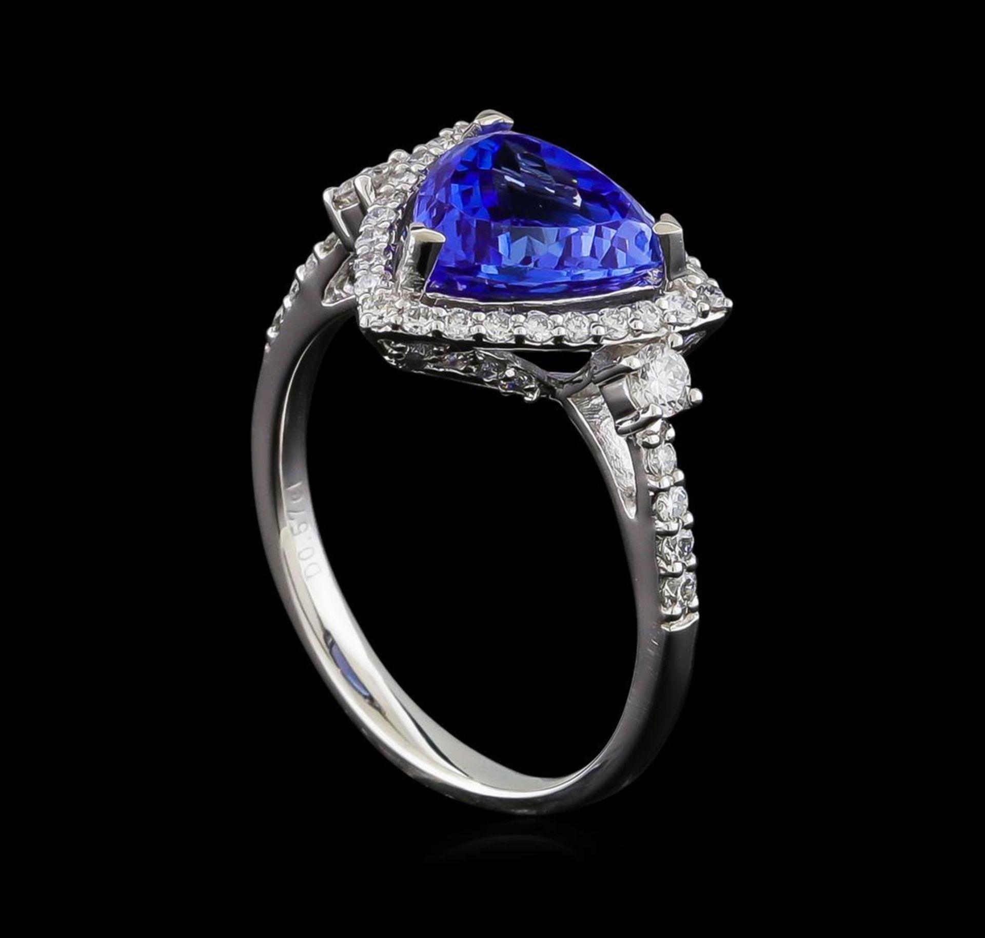 2.46 ctw Tanzanite and Diamond Ring - Platinum - Image 4 of 5