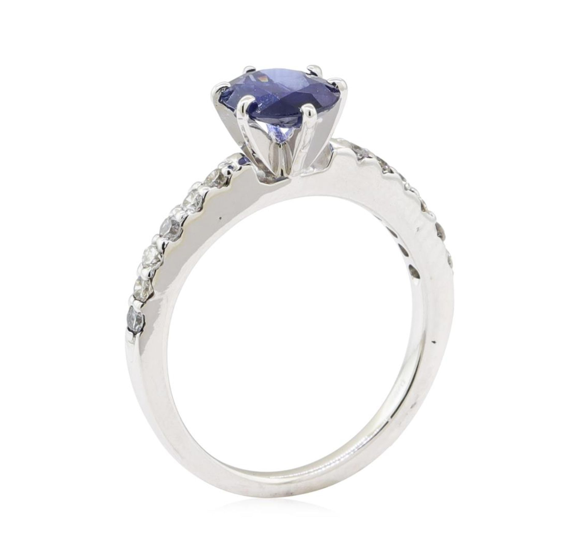 1.25ctw Sapphire and Diamond Ring - 14KT White Gold - Image 4 of 4