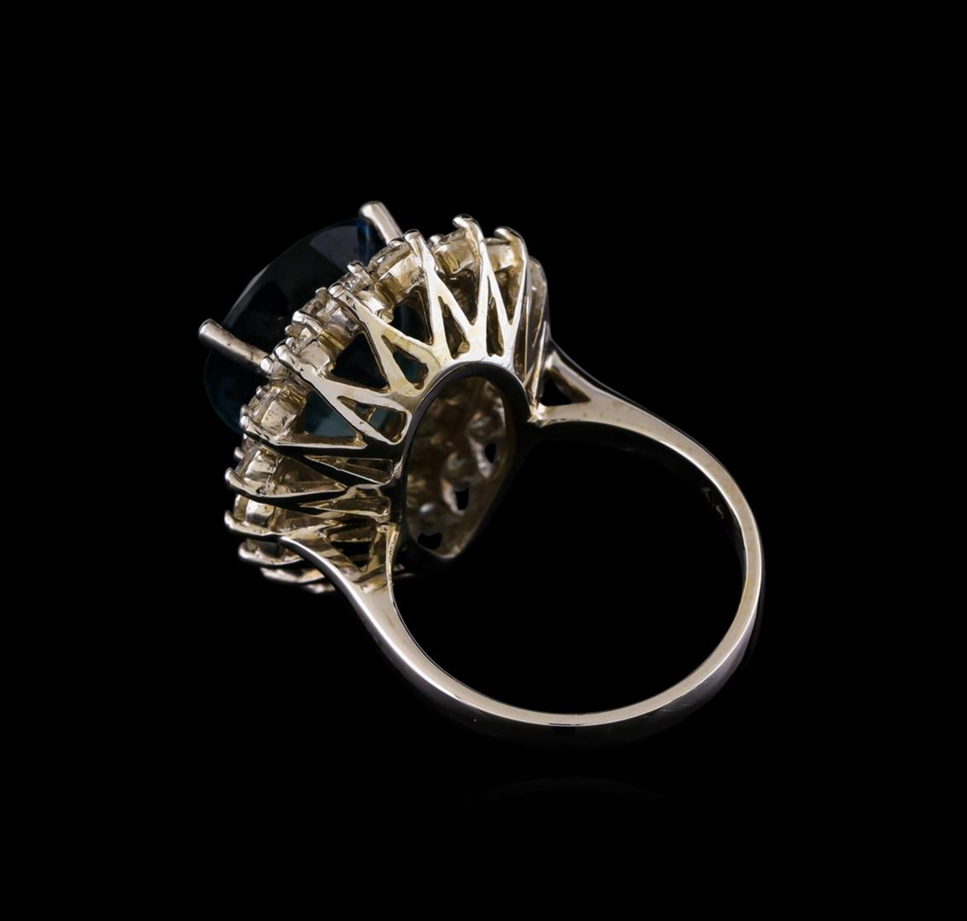 14KT White Gold 12.42 ctw Topaz and Diamond Ring - Image 3 of 5