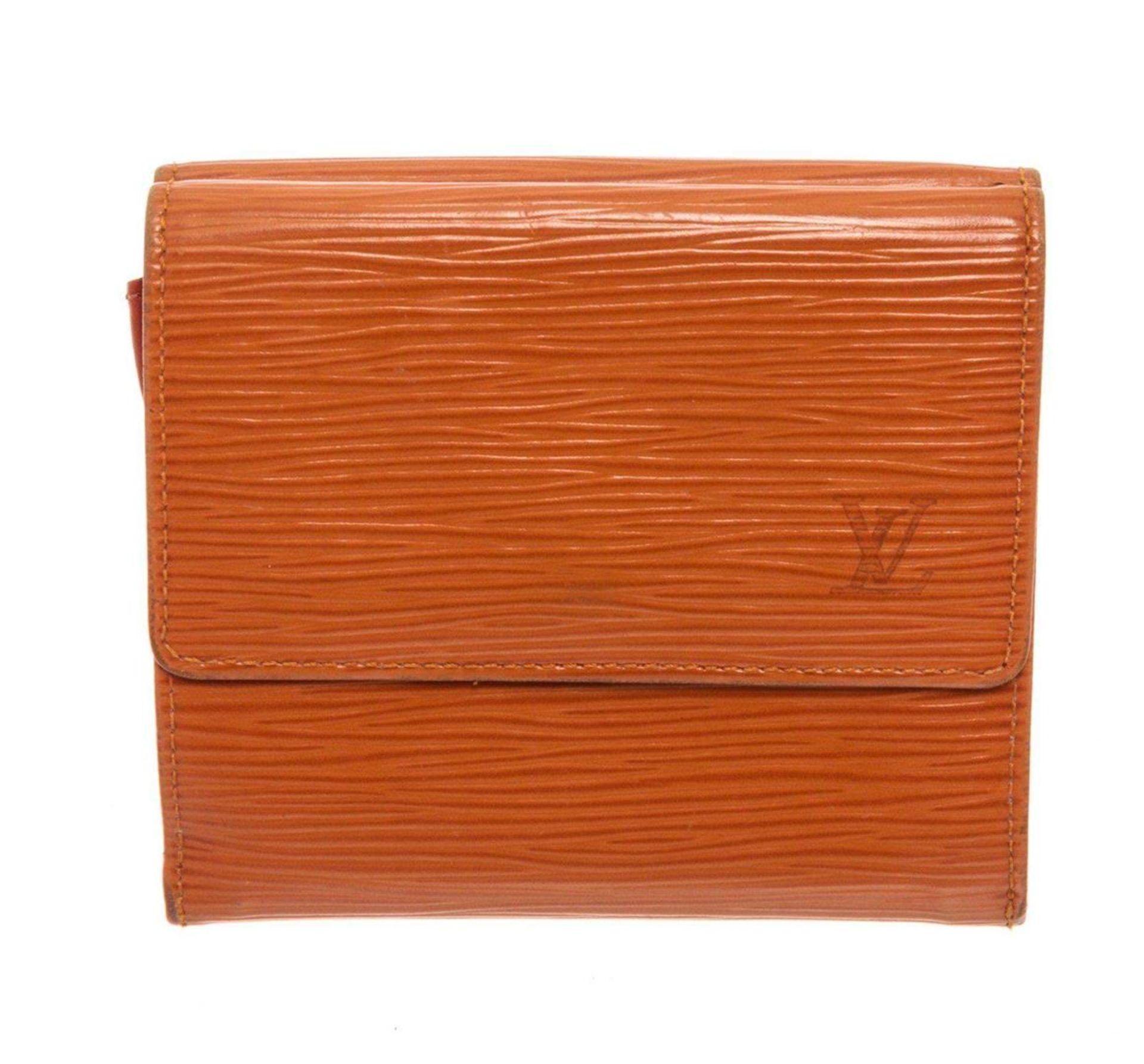 Louis Vuitton Orange Epi Leather Elise Wallet