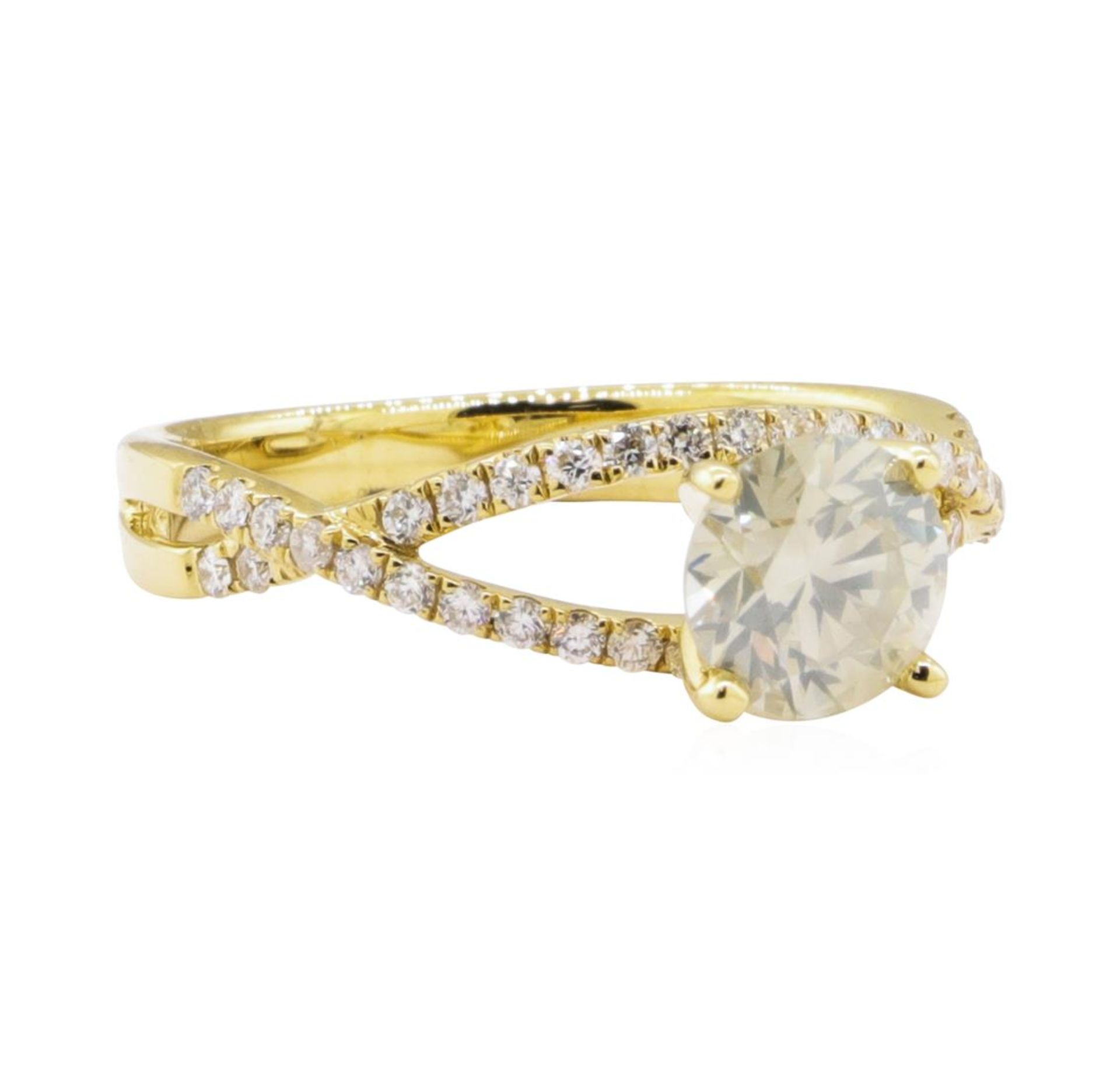 1.04ct Diamond Ring - 18KT Yellow Gold