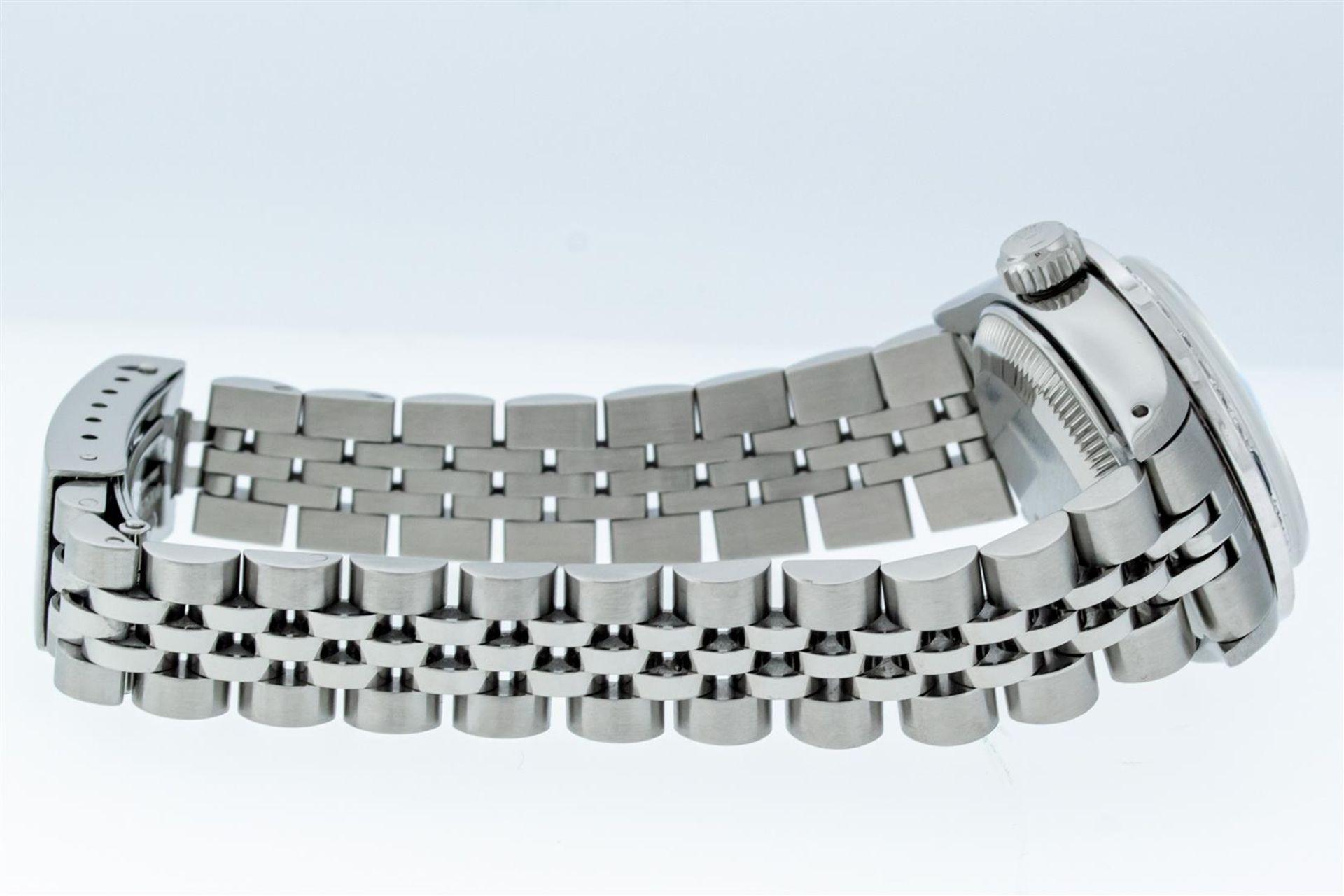 Rolex Ladies Stainless Steel Blue VVS Diamond & Sapphire Datejust Wristwatch - Image 4 of 9