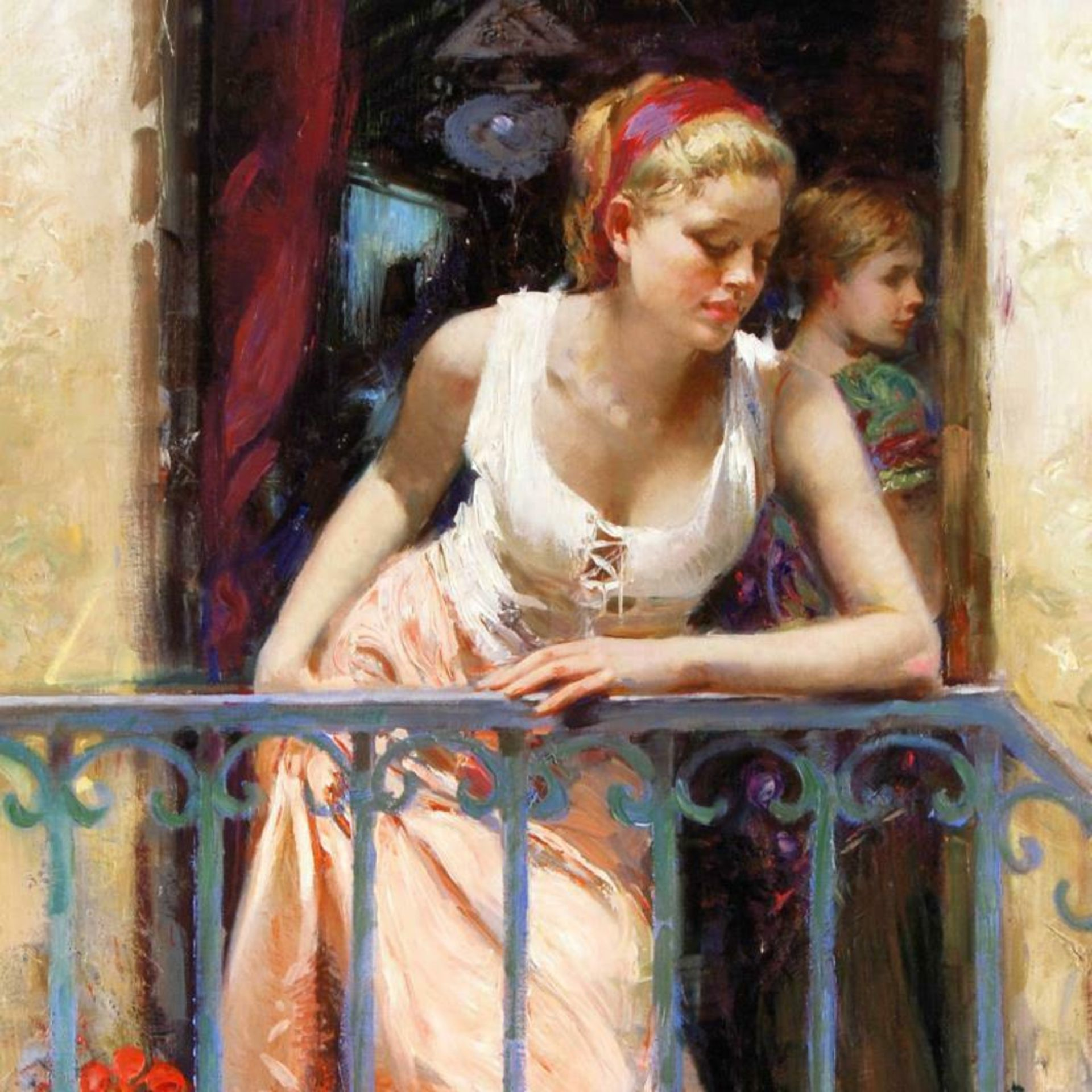 At the Balcony by Pino (1939-2010) - Image 2 of 2