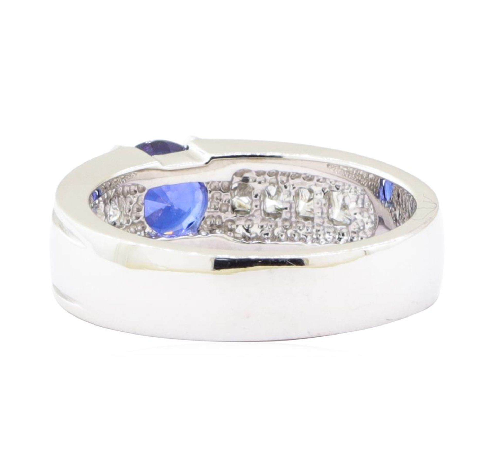 1.79ctw Sapphire and Diamond Ring - 14KT White Gold - Image 3 of 4
