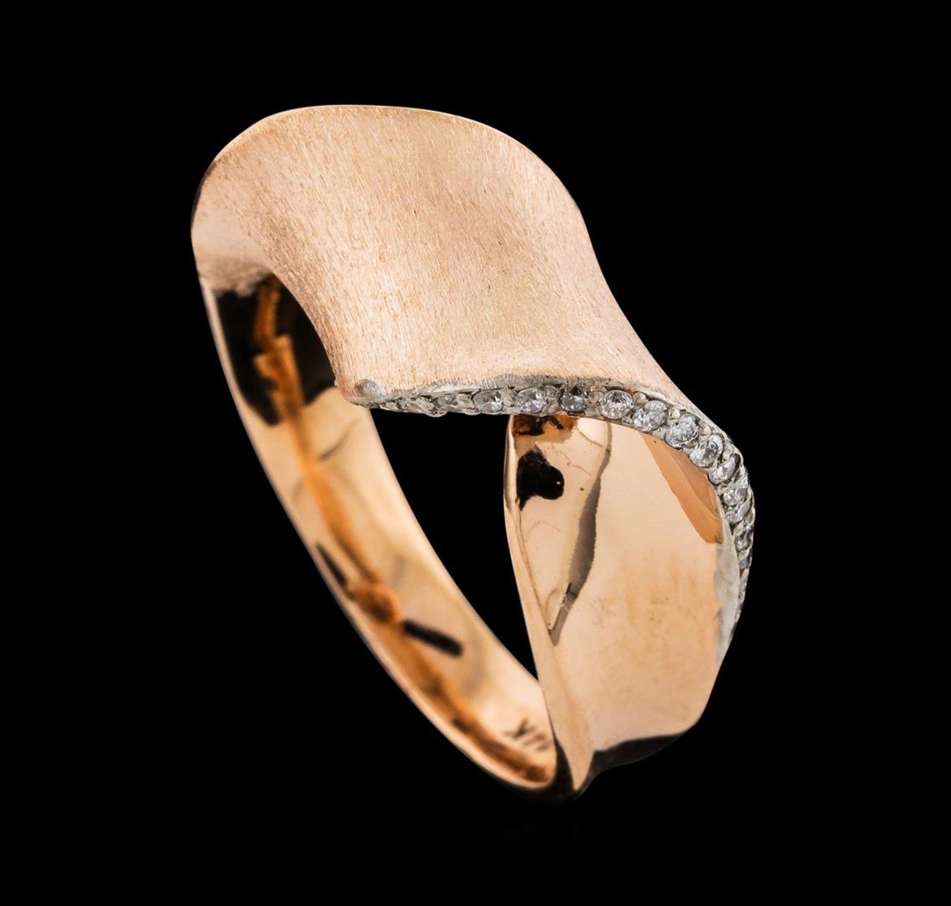 0.15 ctw Diamond Ring - 14KT Rose Gold - Image 4 of 4