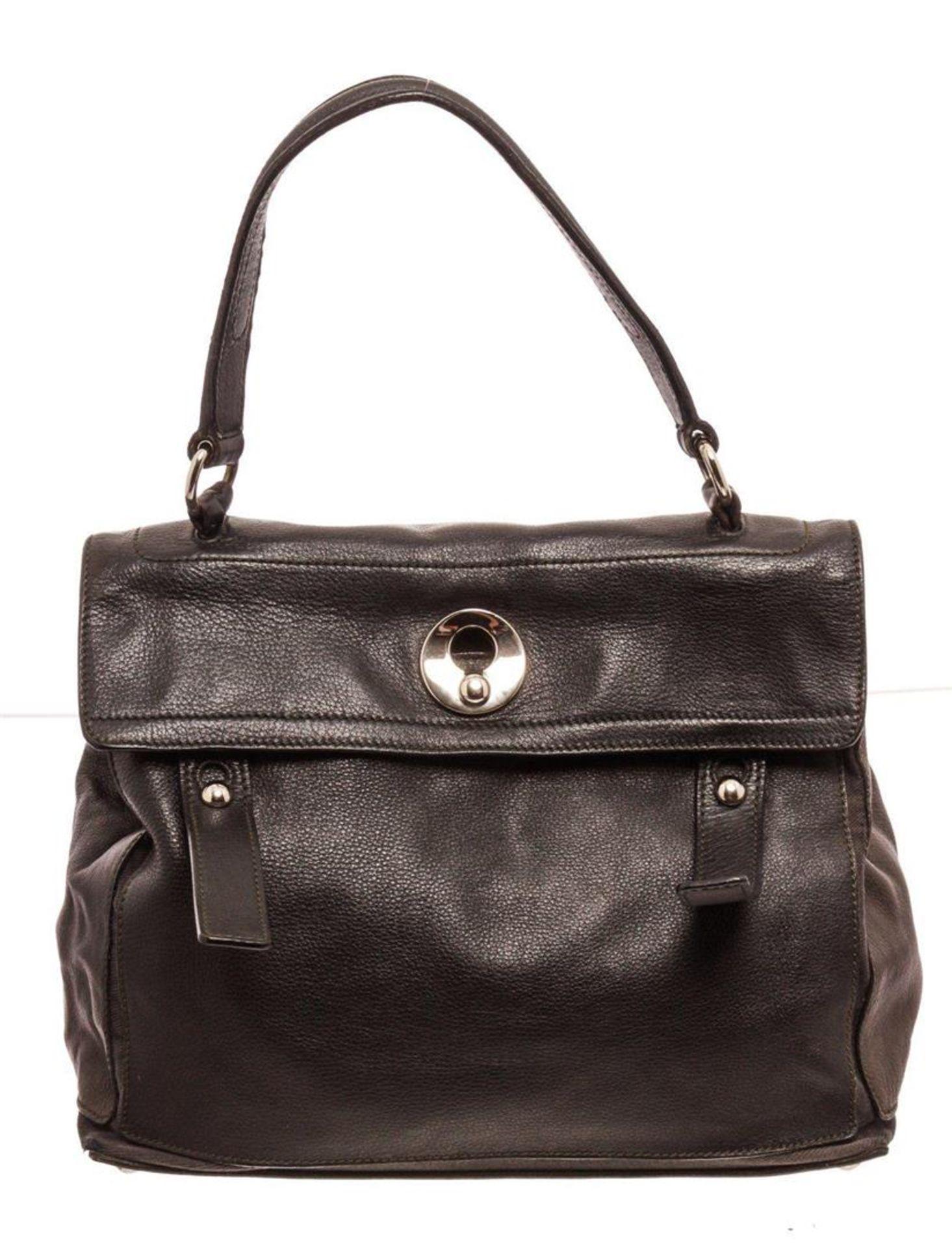 Saint Laurent YSL Black Leather Muse Two Shoulder Bag