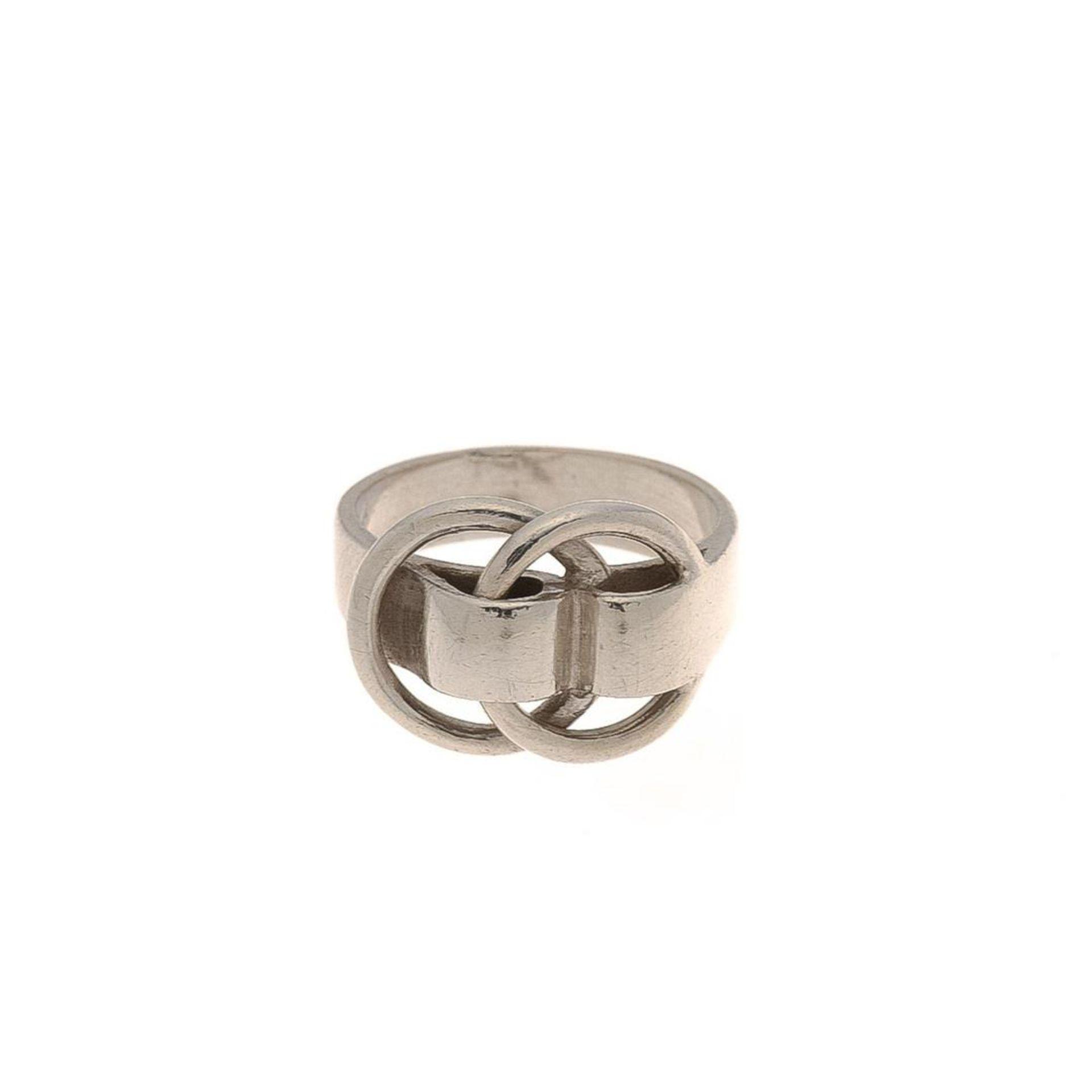 Hermes Silver Deux Anneaux Ring
