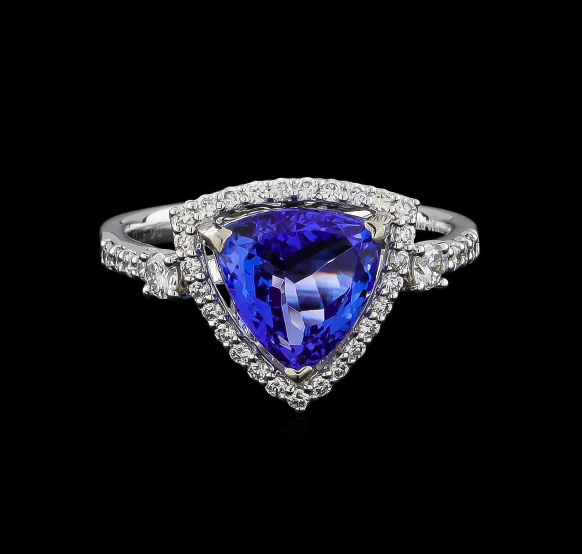 2.46 ctw Tanzanite and Diamond Ring - Platinum - Image 2 of 5