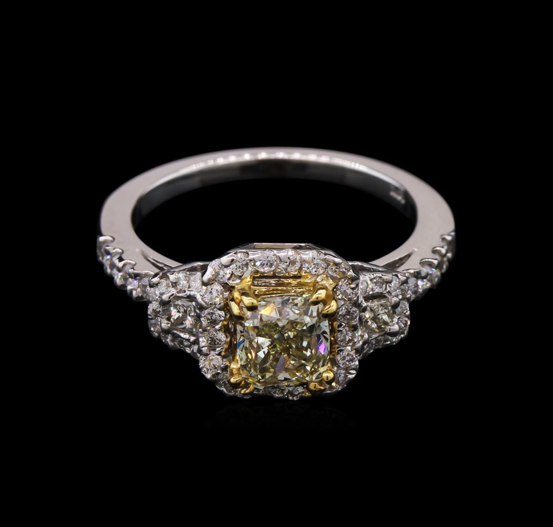 1.67 ctw Light Yellow Diamond Ring - 14KT White Gold - Image 2 of 3