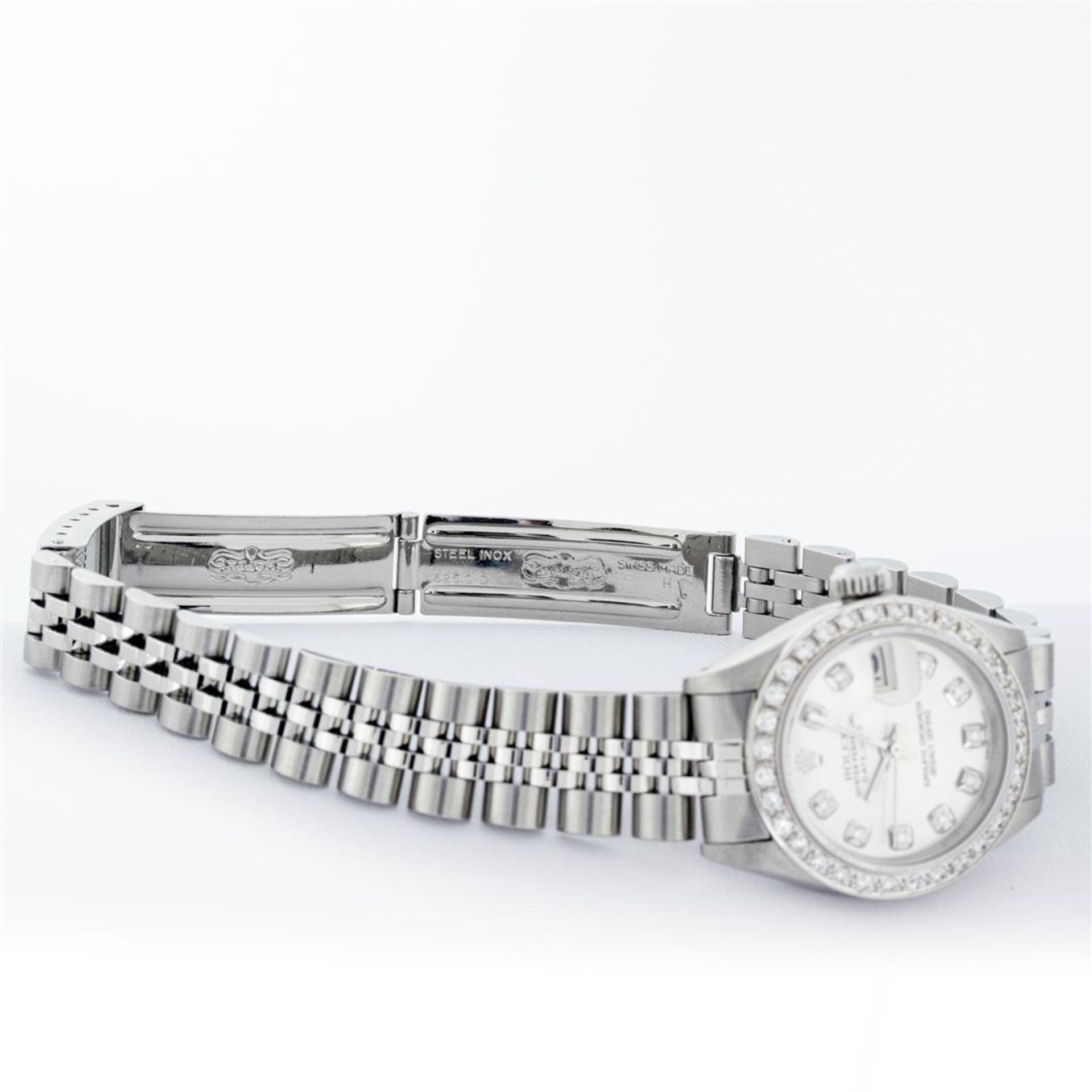 Rolex Ladies Stainless Steel Silver Diamond 26MM Oyster Perpetual Datejust - Image 9 of 9