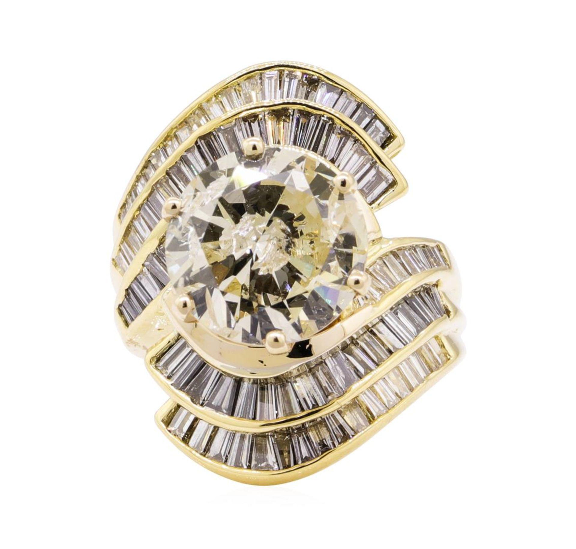 7.51 ctw Diamond Ring - 18KT Yellow Gold - Image 2 of 5