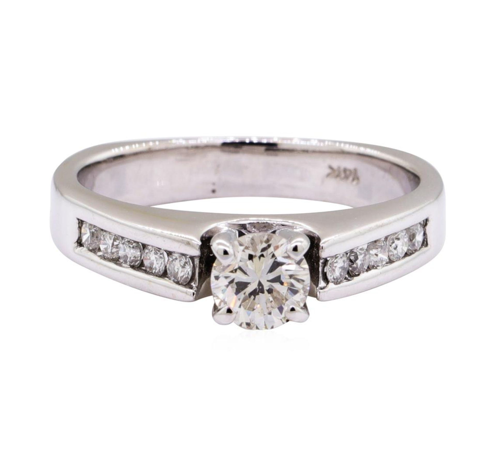 0.80 ctw Diamond Wedding Ring with a Euro Shank - 14KT White Gold - Image 2 of 4