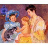 Mary Cassatt - Children Playing With A Cat