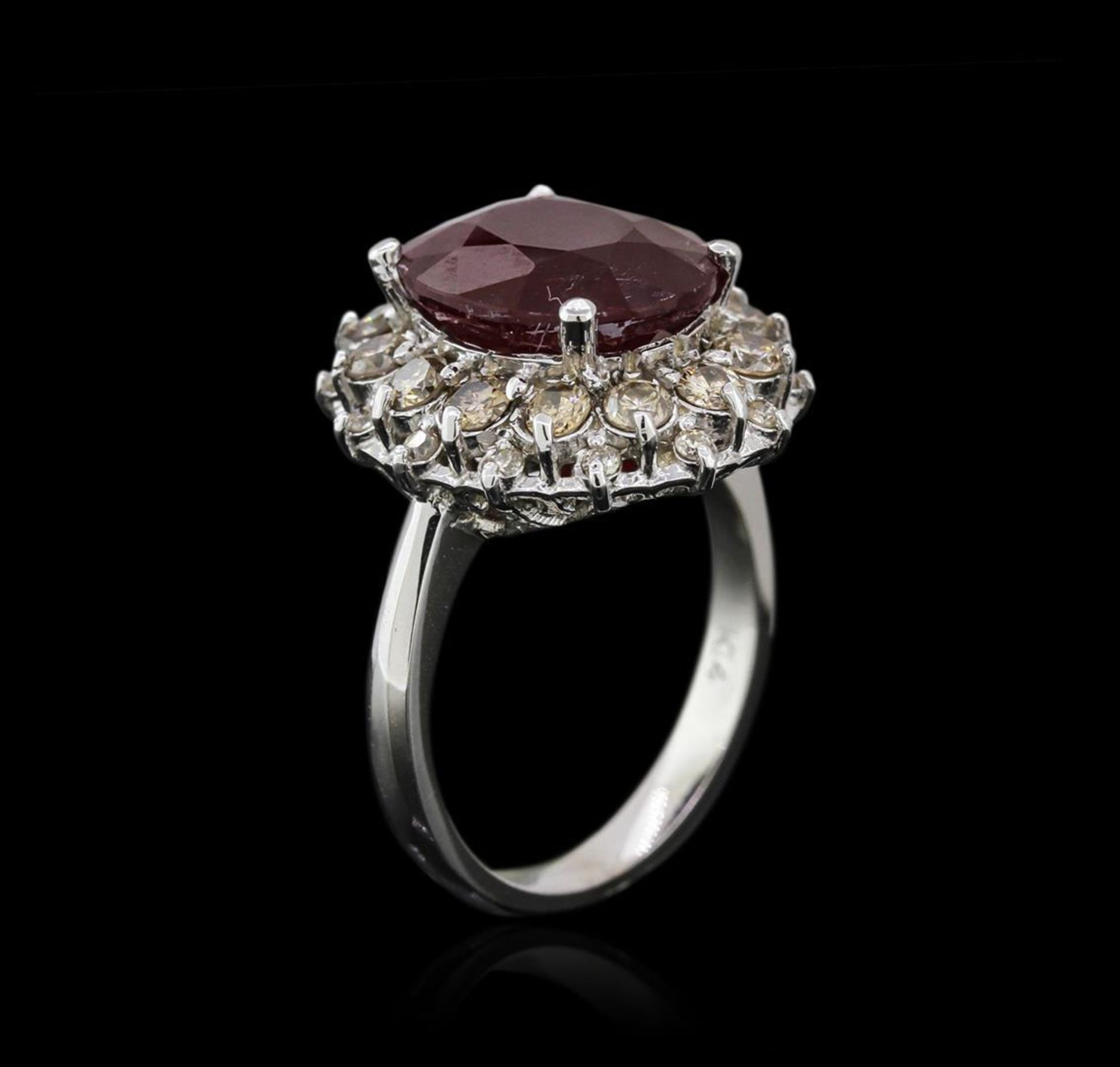 14KT White Gold 6.16 ctw Ruby and Diamond Ring - Image 3 of 4