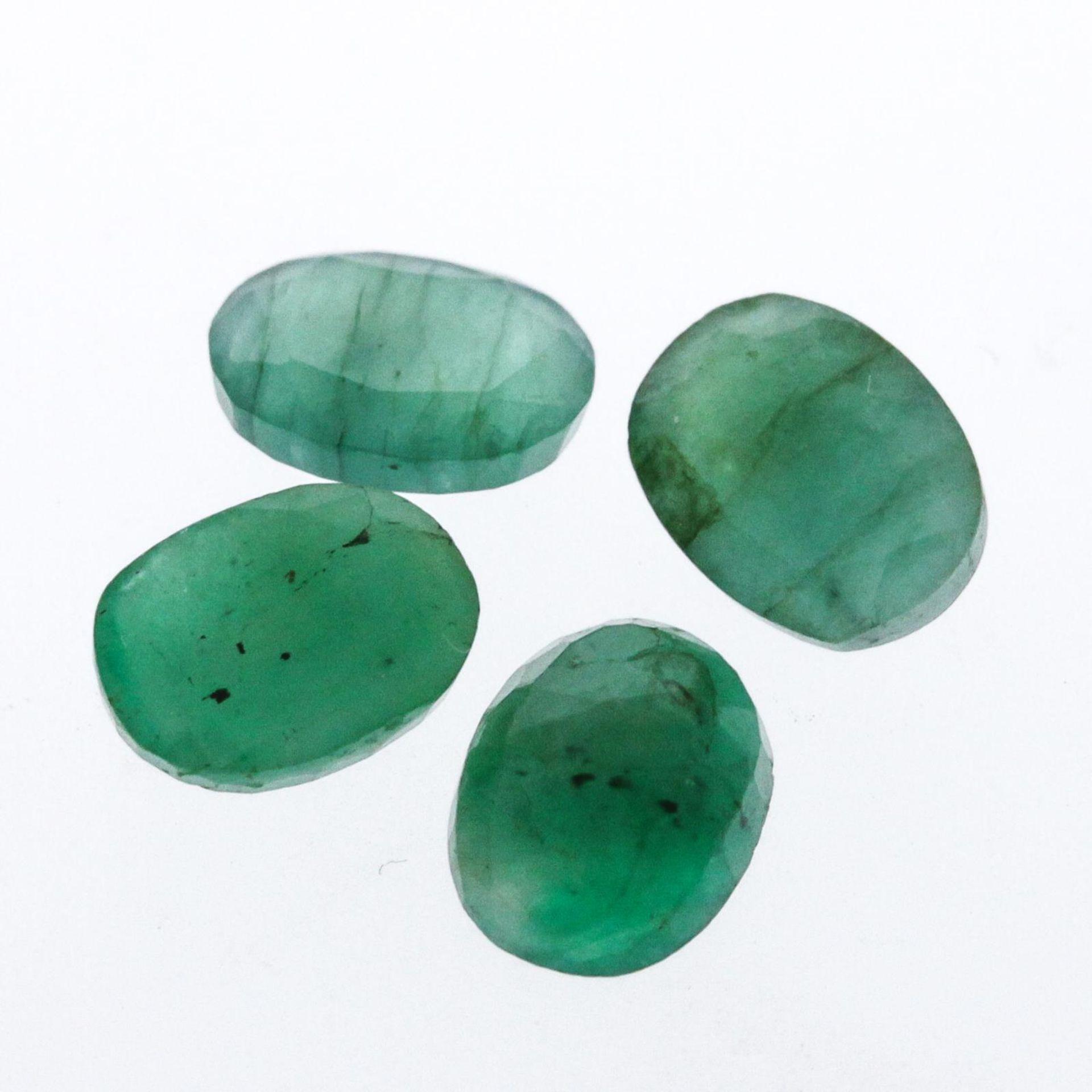 4.85cts. Oval Cut Natural Emerald Parcel