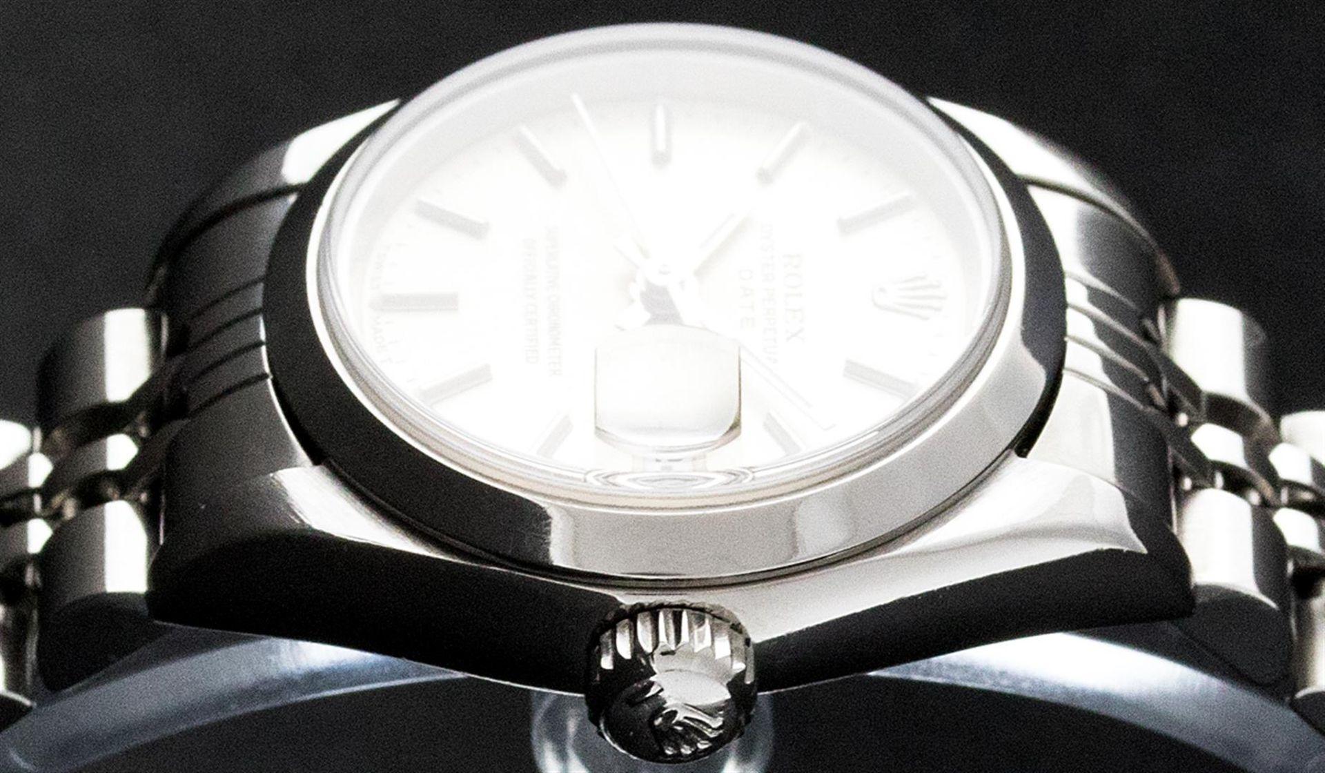 Rolex Ladies Stainless Steel Silver Index 26MM Quickset Datejust Wristwatch - Image 4 of 9
