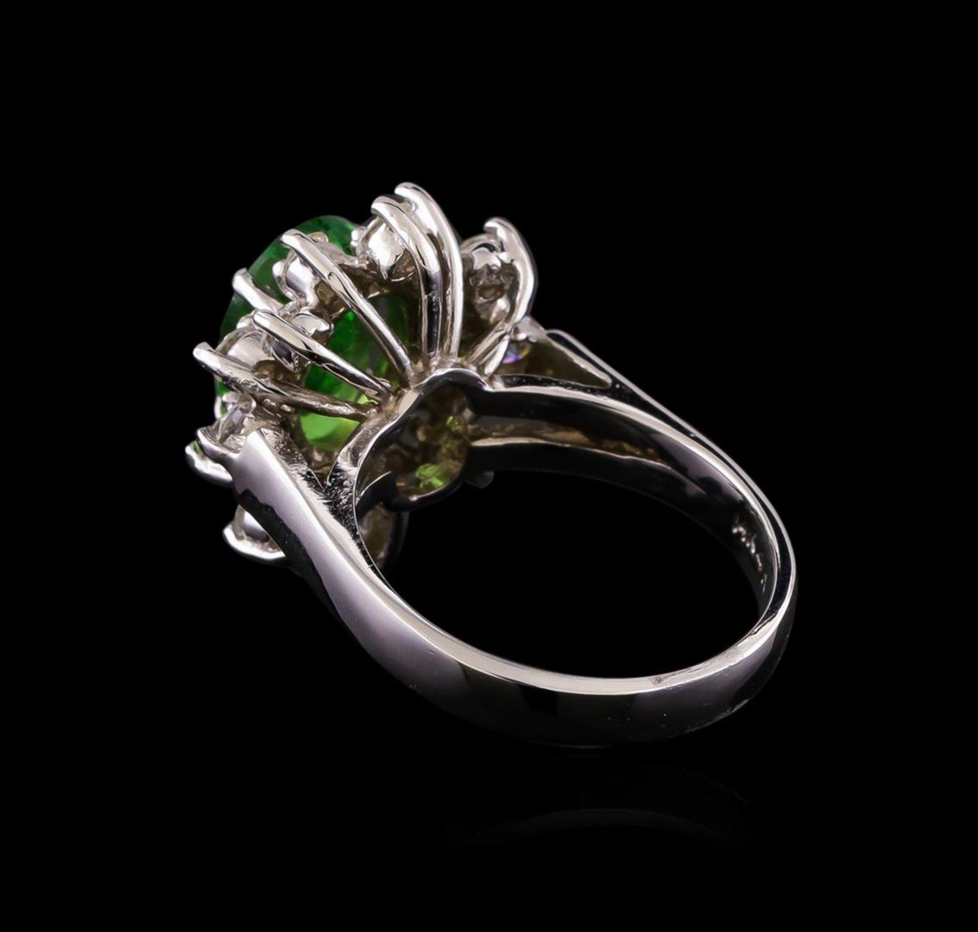 2.51 ctw Tsavorite and Diamond Ring - 14KT White Gold - Image 3 of 5