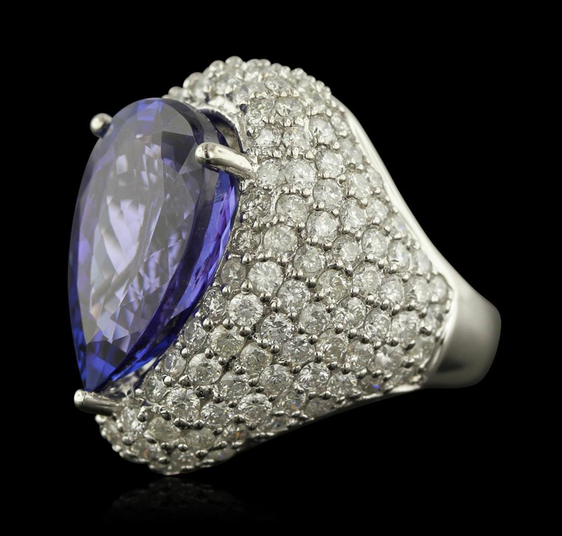 14KT White Gold 14.82 ctw GIA Certified Tanzanite and Diamond Ring - Image 2 of 4