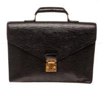 Louis Vuitton Black Epi Leather Briefcase