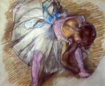 Edgar Degas - Sitting Dancer Lacing Her Slipper
