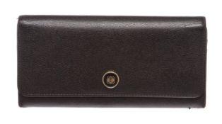 Loewe Black Leather Long Wallet