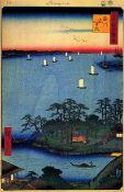 Hiroshige - Shinagawa Susaki