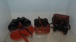 3 pairs of Binoculars -Telstar -ZENITIT X2