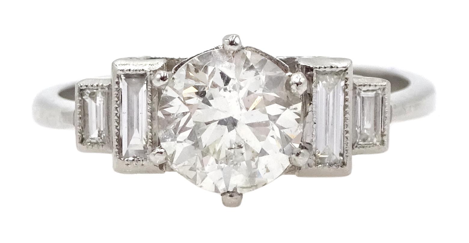 Art Deco style platinum ring