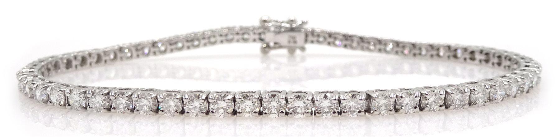 18ct white gold diamond line bracelet