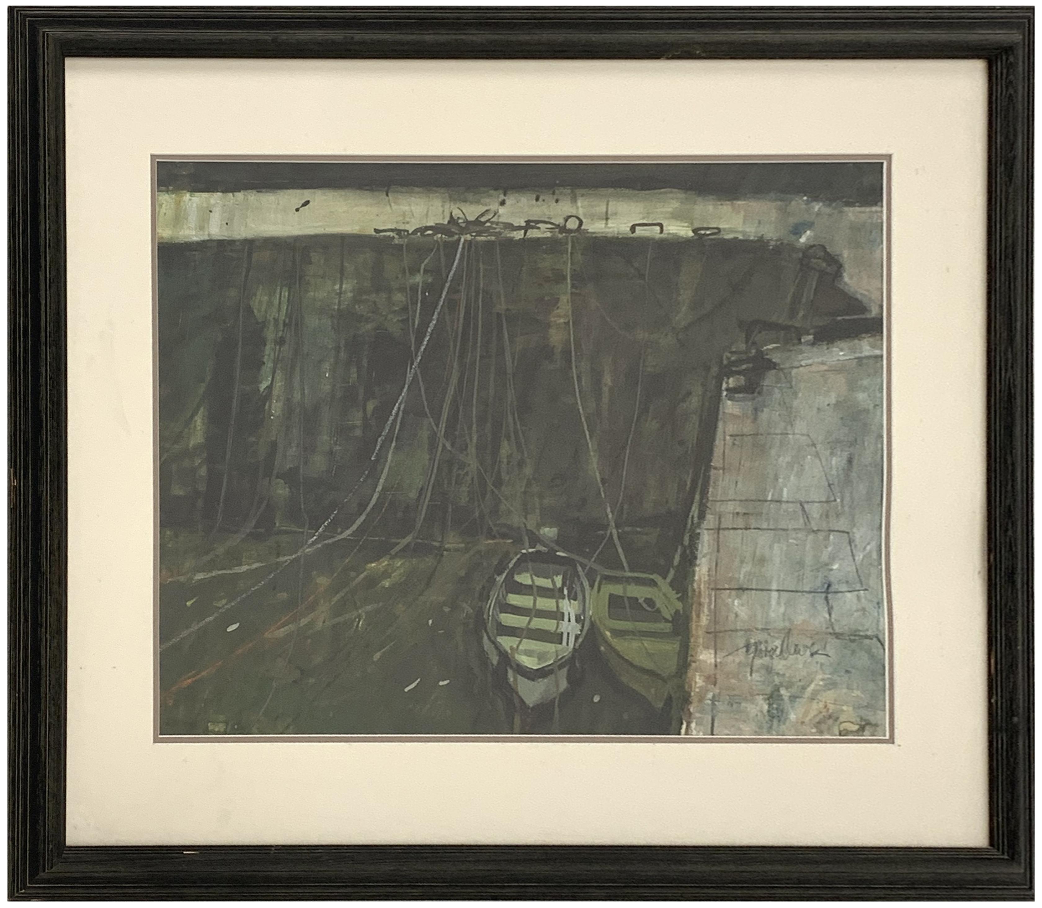 George Devlin (Scottish 1937-2014): Boats at Port-Vendres - Image 2 of 3