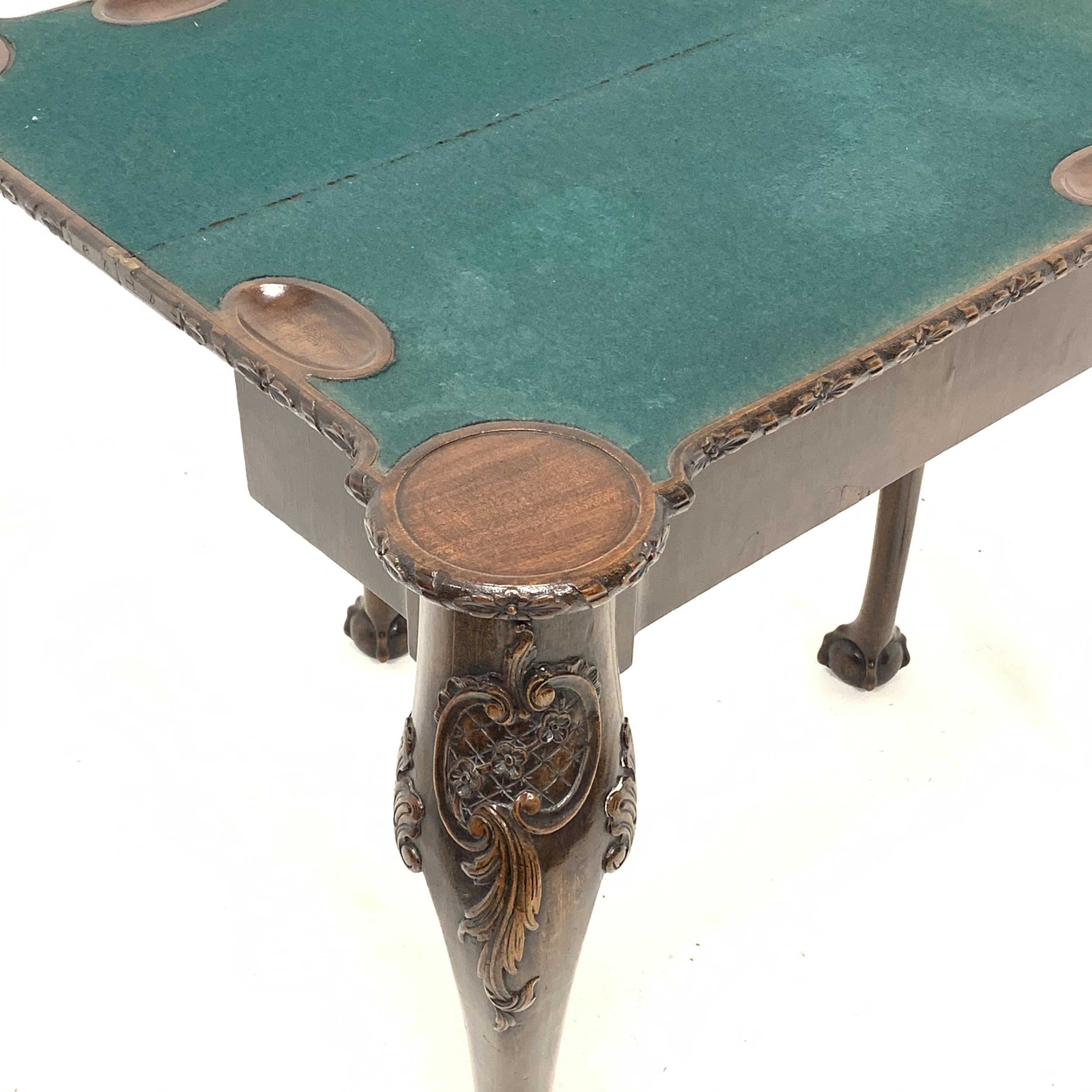 Early 20th century mahogany Georgian style games table - Image 4 of 5