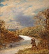 John Linnell (British 1792-1882): The Angler